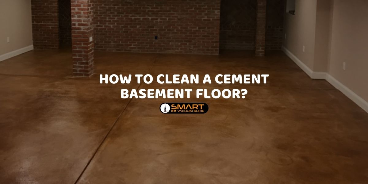 How to clean a cement basement floor